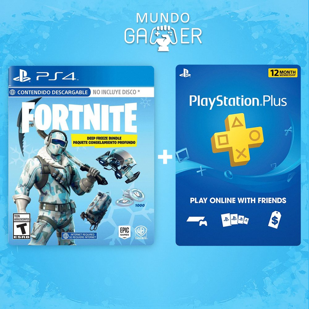 Playstation Plus 12 Meses Fornite Deep Freeze Ps Plus 12 Meses
