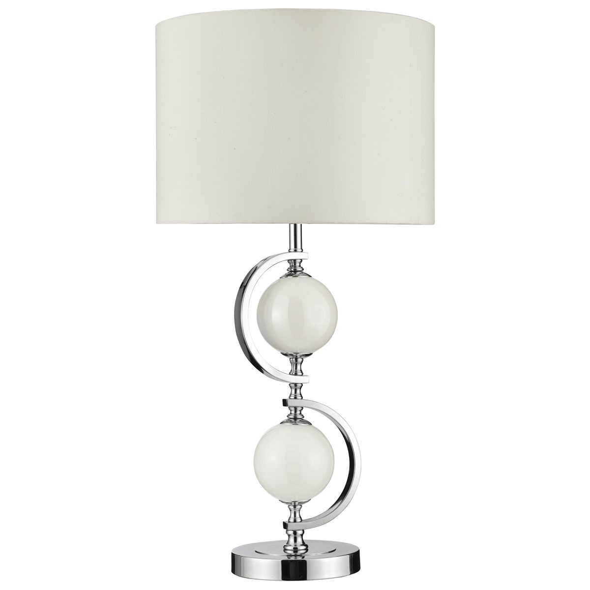 Modern Table Lamps Uk Contemporary Table Lamp Chrome And Glass Complete With Shade