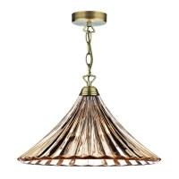 Ardeche 1 Light Large Pendant Light - Amber Glass