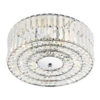 Errol Ceiling Light - 4 Light Crystal Semi Flush