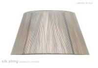 40cm Silk String Shade Silver Grey - Fabric Lampshades ...