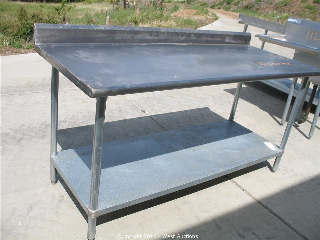 Stainless Restaurant Table West Auctions Auction Pizza Restaurant Equipment And Furniture