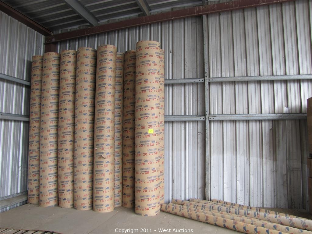 Concrete Tube Forms West Auctions Auction Dry Mix Products In Roseville California