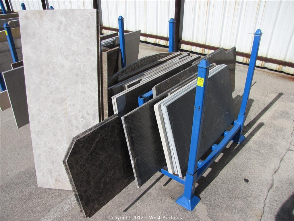 Pre Made Granite Countertops West Auctions Auction Holland Marble Company Surplus