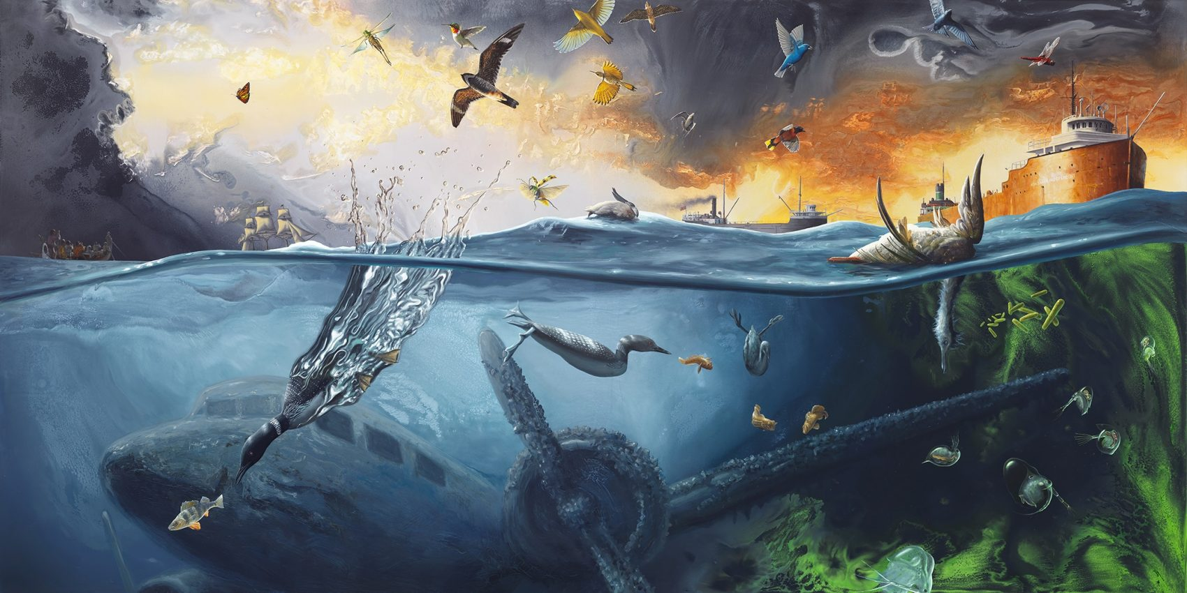 Painting S Fantastical Paintings Illustrate Great Lakes Ecology