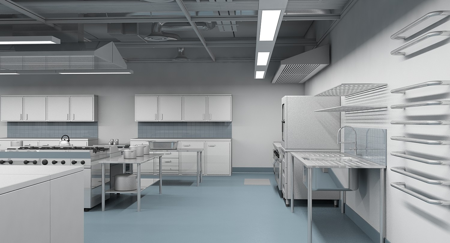Commercial Kitchen 3d Design Commercial Kitchen 3d Model