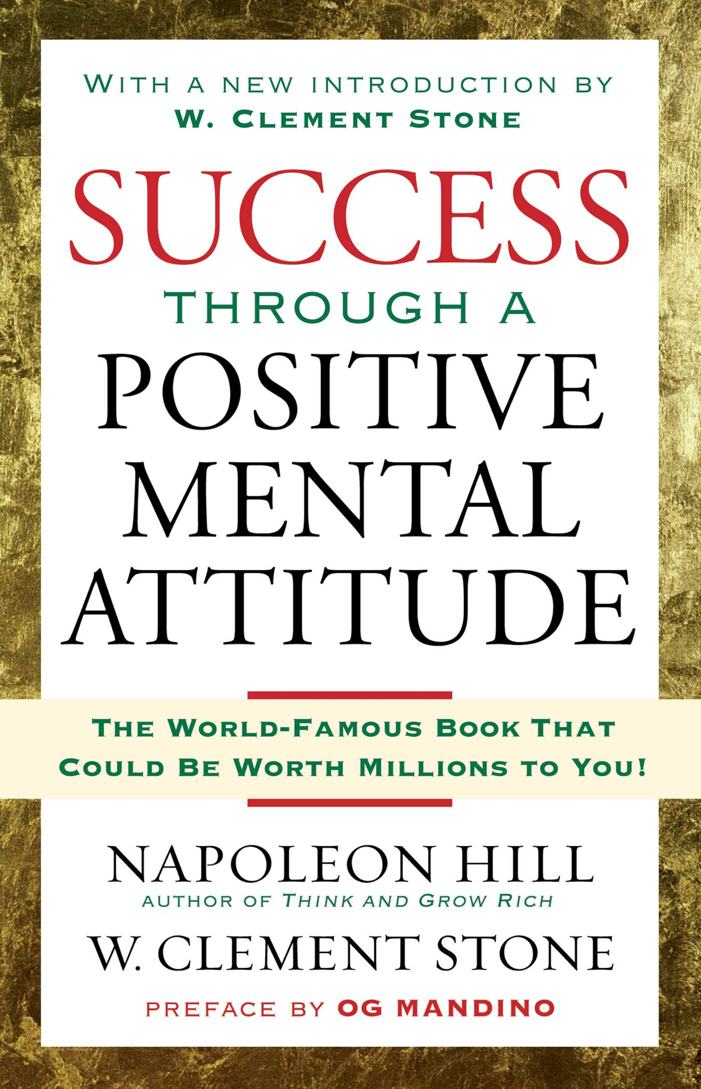 Napoleon Hill Libros Success Through A Positive Mental Attitude Ebook By Napoleon Hill