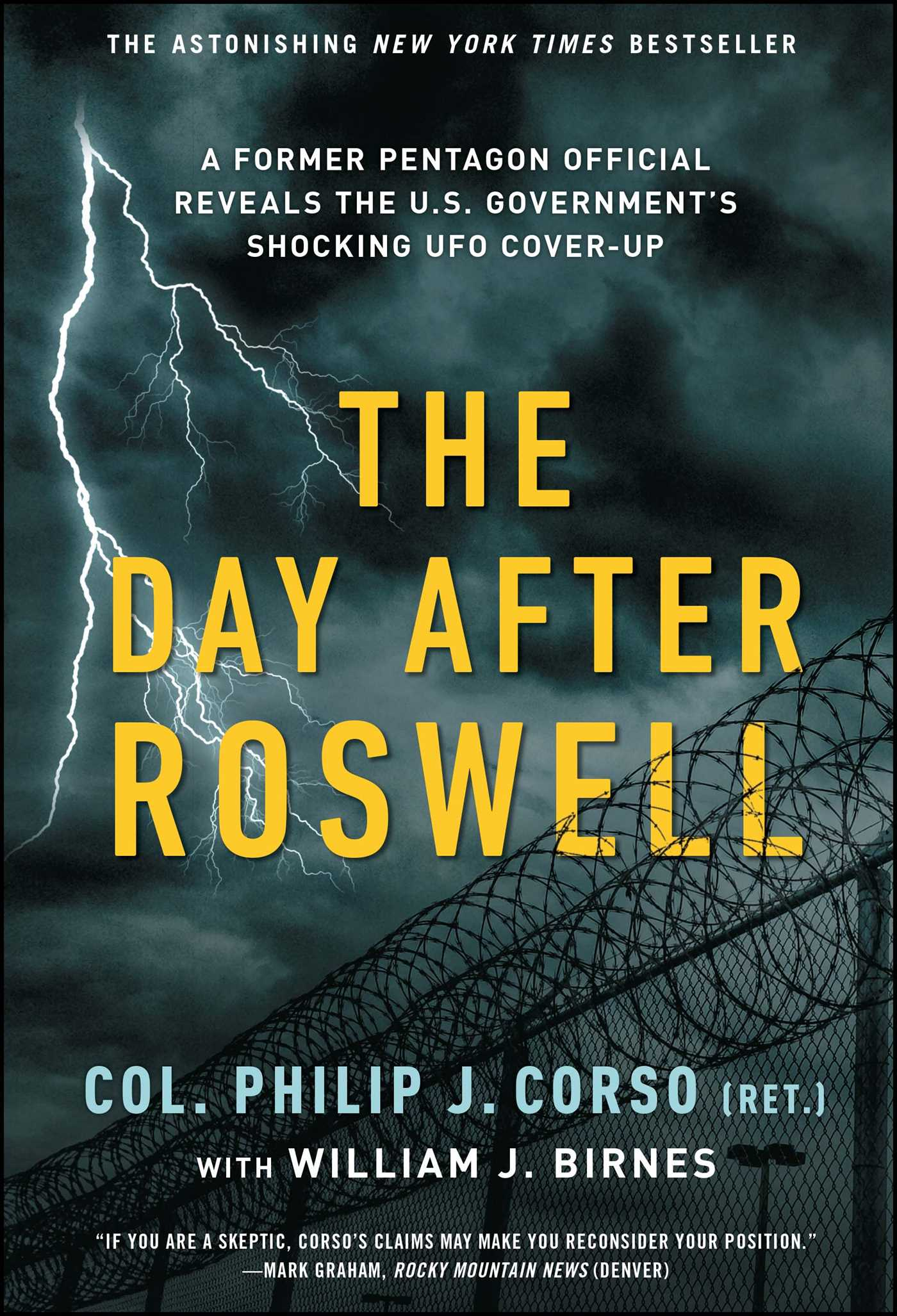 Fiction Publisher The Day After Roswell | Book By William J. Birnes, Philip