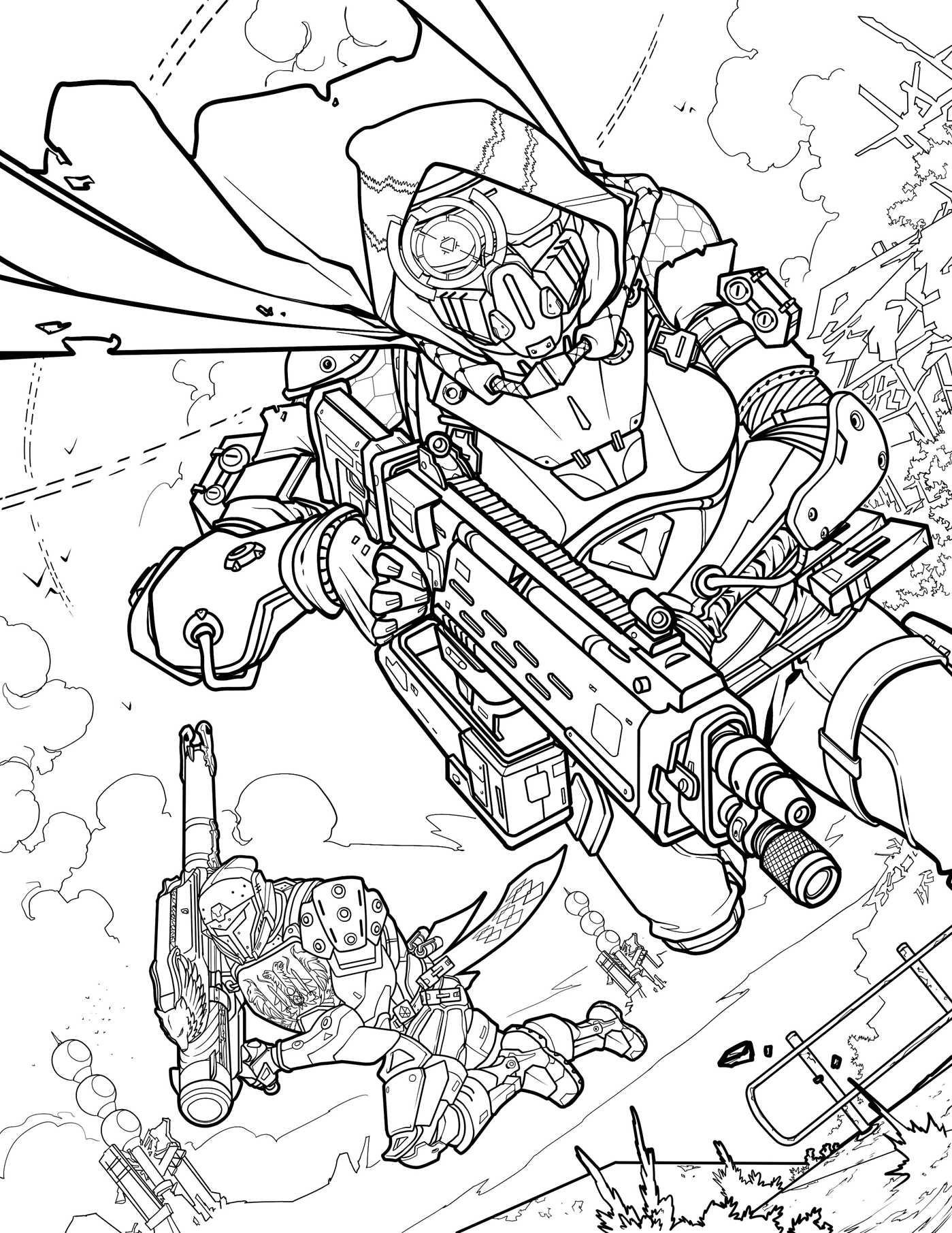 Battle Royale Libro Destiny: The Official Coloring Book | Book By Bungie, Ze