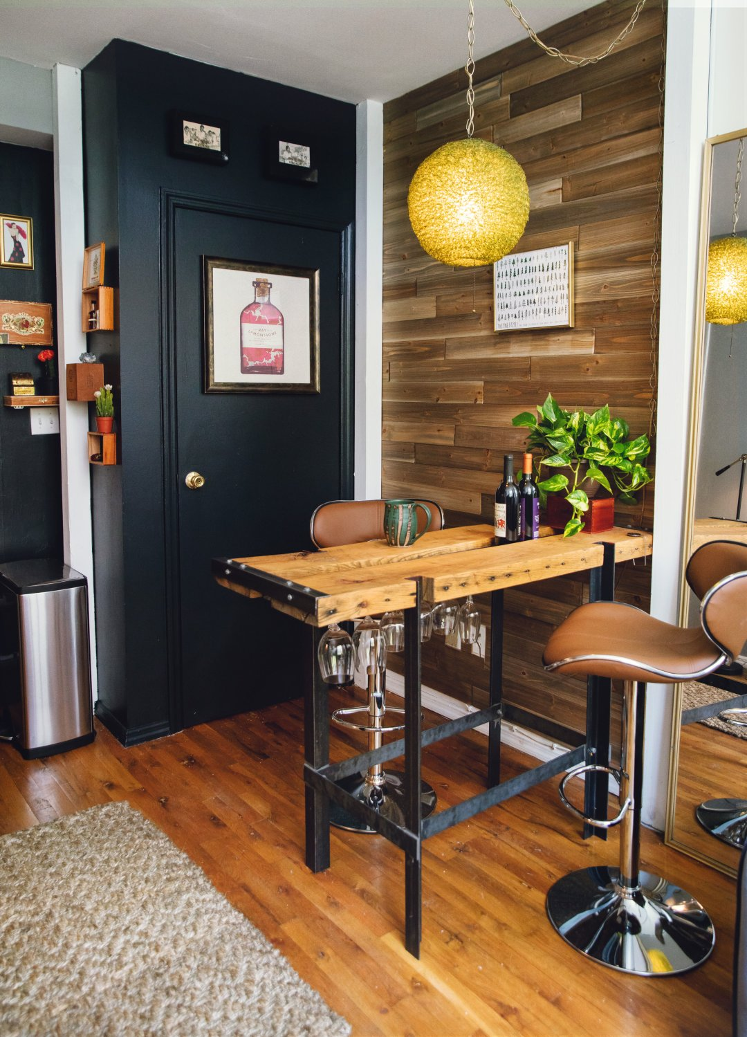 Home Goods Bar Stools Get The Look: Industrial Modern Style Mixed With Clever