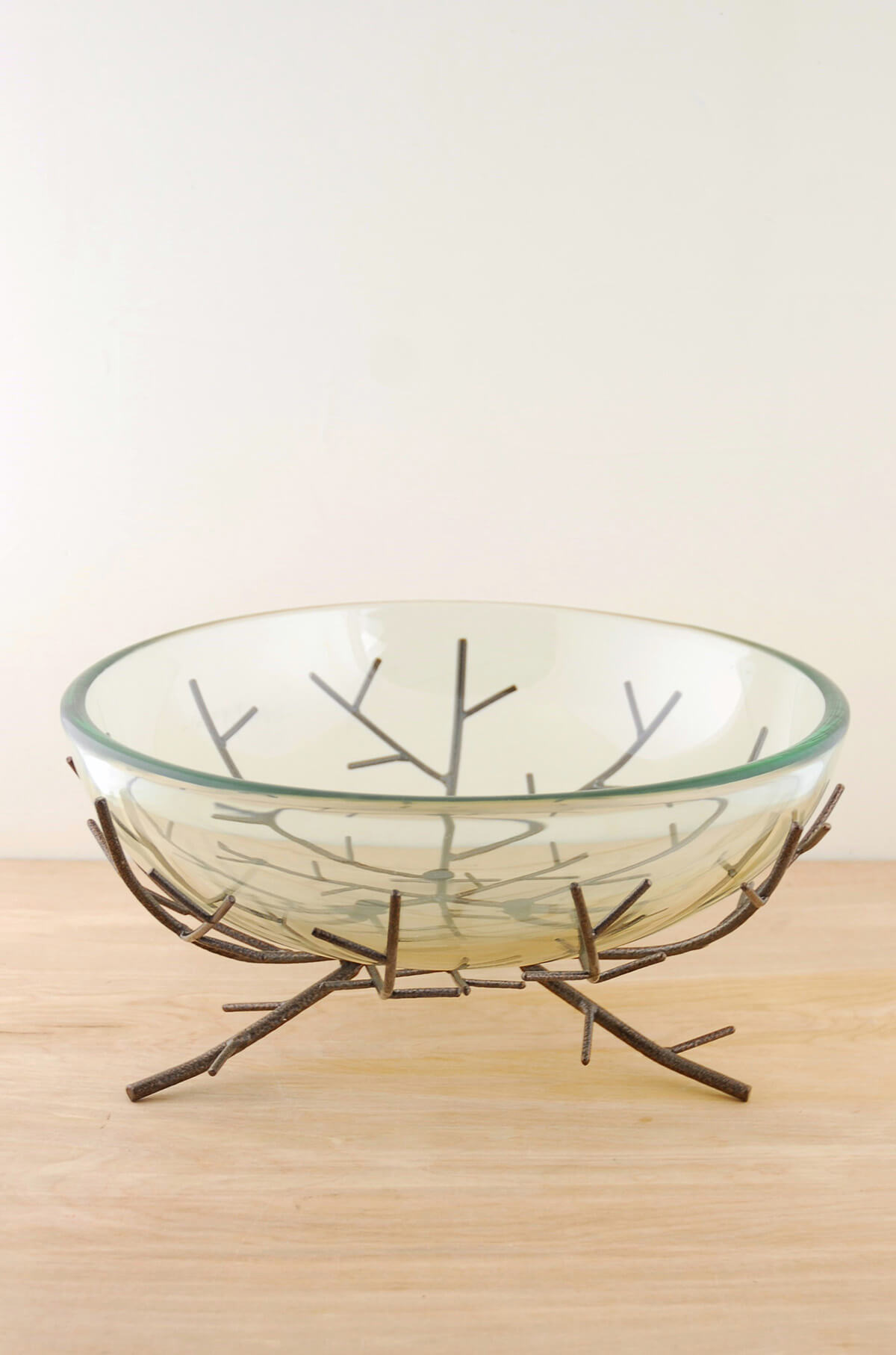 Metal Centerpiece Bowl Floating Candle Bowl On Metal Branch Stand
