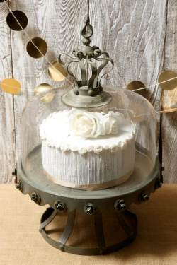Encouraging Glass Dome Covered Zinc Rustic Cake Stand Glass Dome Decoration Glass Dome Decorating Ideas