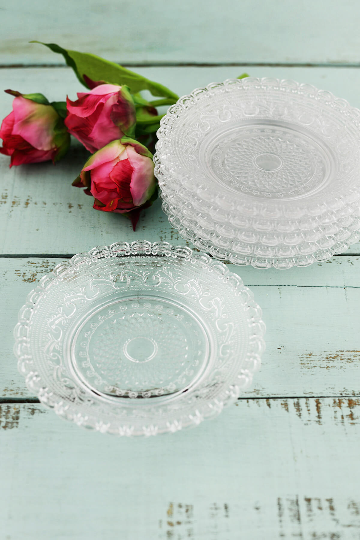 Clear glass plates for crafts - Clear Glass Plates For Crafts Vintage Lace Glass Plates 6 Plates 5 Download