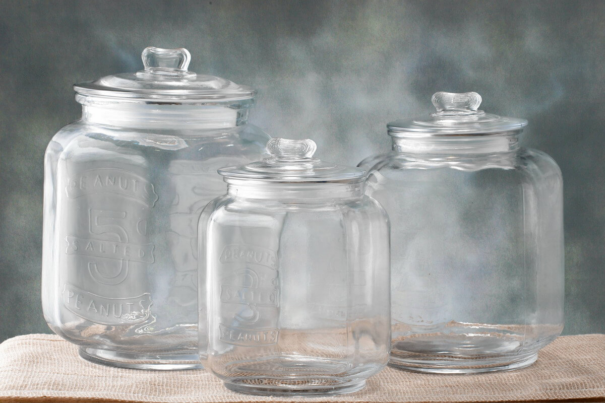 Nice Cookie Jars Glass Cookie Jar Medium 7 3 8 X 10in