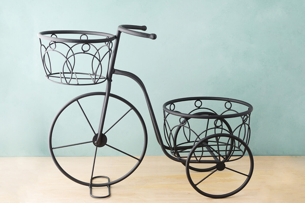 Black Wire Plant Stand Plant Stand Tricycle Metal Black