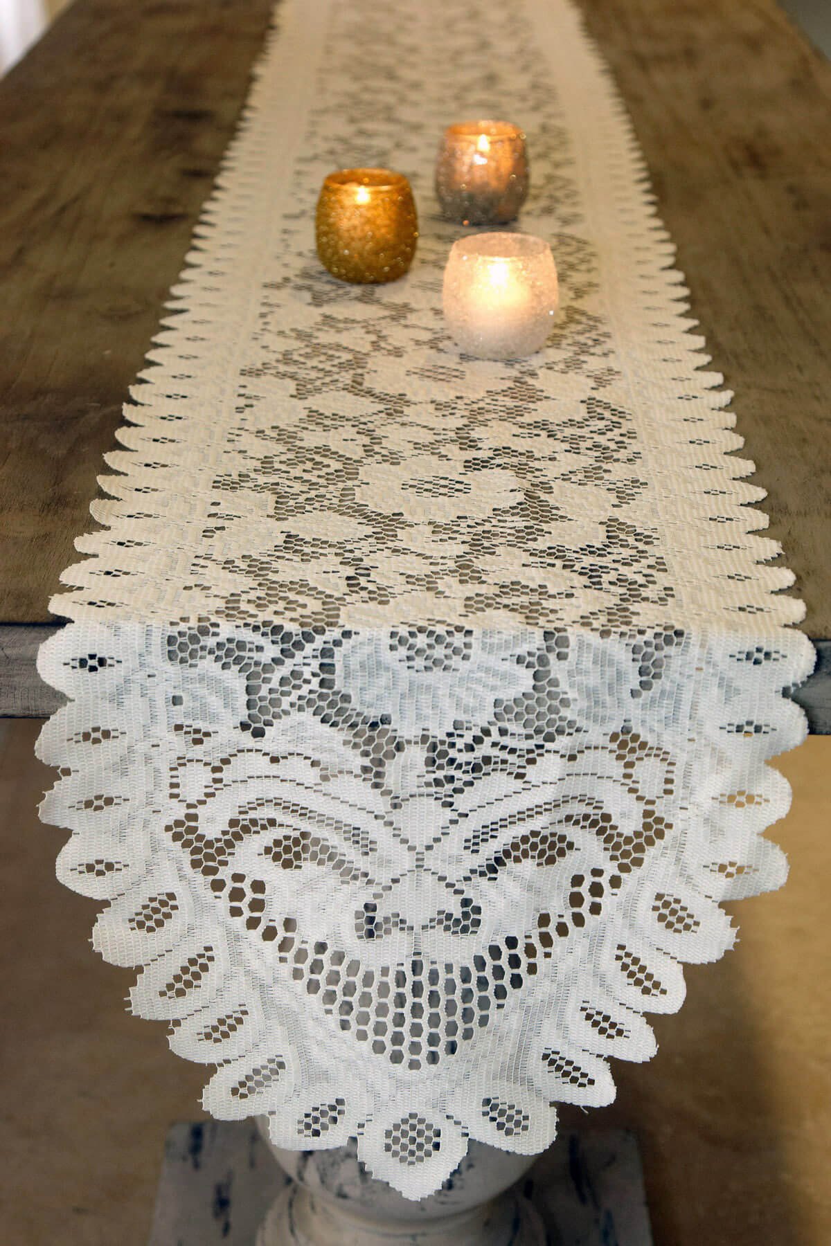 Nappe Table Table Runner Lace Ivory 13 X 96in