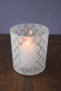 Votive Holder Frosted 4in