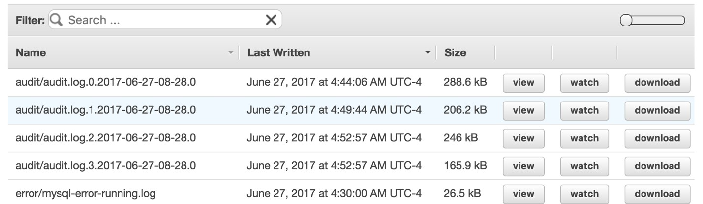 Audit Amazon Aurora Database Logs for Connections, Query Patterns