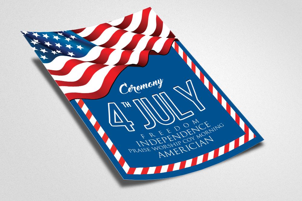 American Independence Day Flyer by De Design Bundles