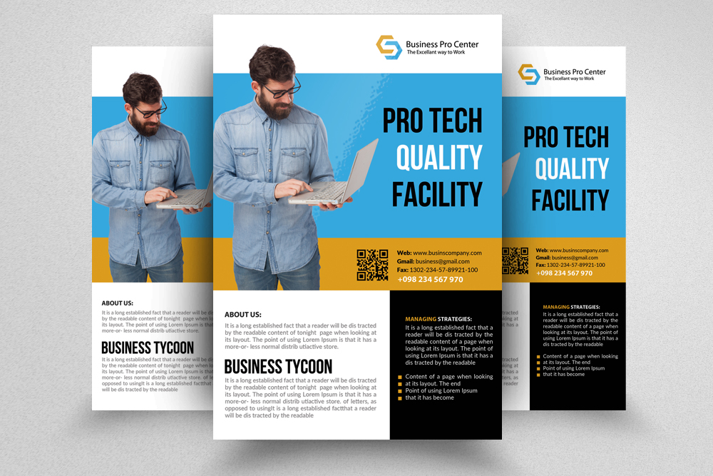 Mining Company Flyer Templates by Desig Design Bundles - company brochure templates