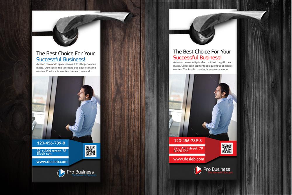 Employment Agency Business Door Hangers Design Bundles