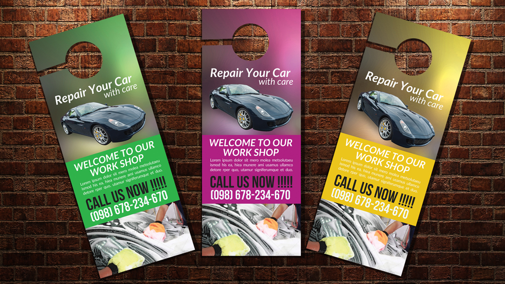 Car Wash Door Hangers by Designhub719 Design Bundles - door hanger design template