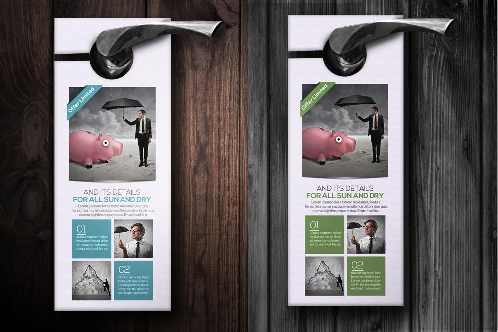 Business Dealing Door Hangers by Design Design Bundles