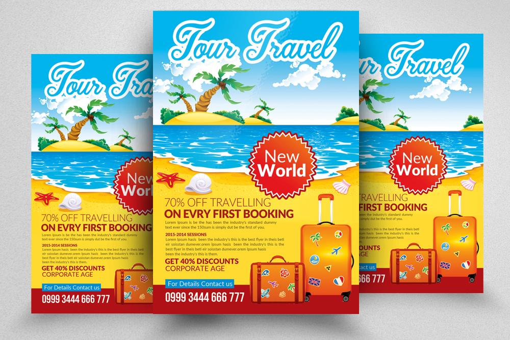 10 Tour Travel Agency Flyer Template Bu Design Bundles