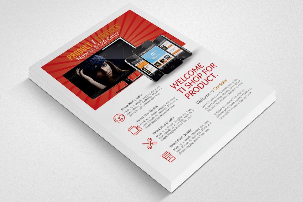 Product Promotion Flyer Template by Des Design Bundles