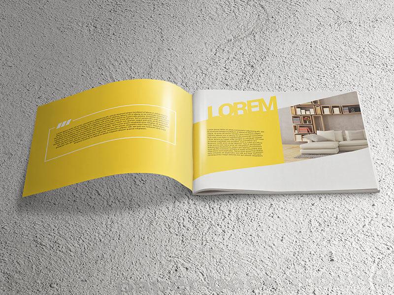 Landscape Brochure Catalog Mockups by V Design Bundles
