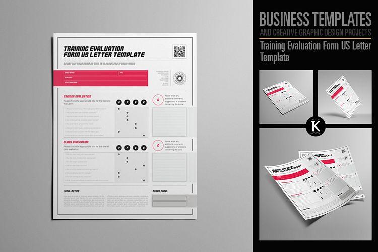 Training Evaluation Form US Letter Temp Design Bundles - product evaluation template