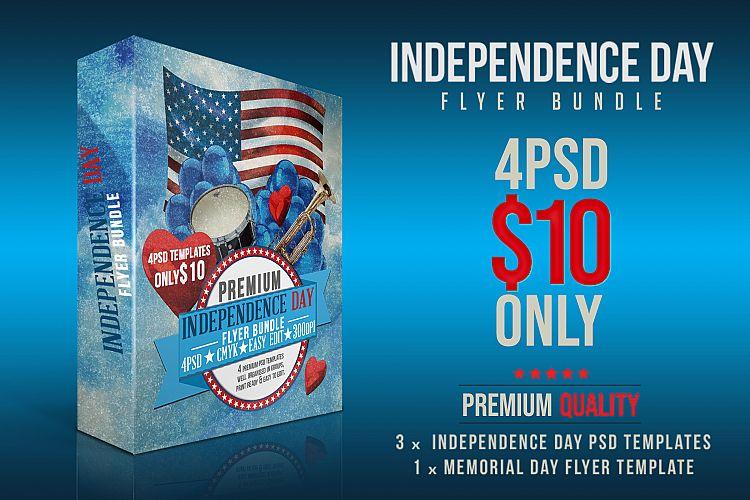 Independence Day Flyer Bundle by DESIGN Design Bundles - independence day flyer