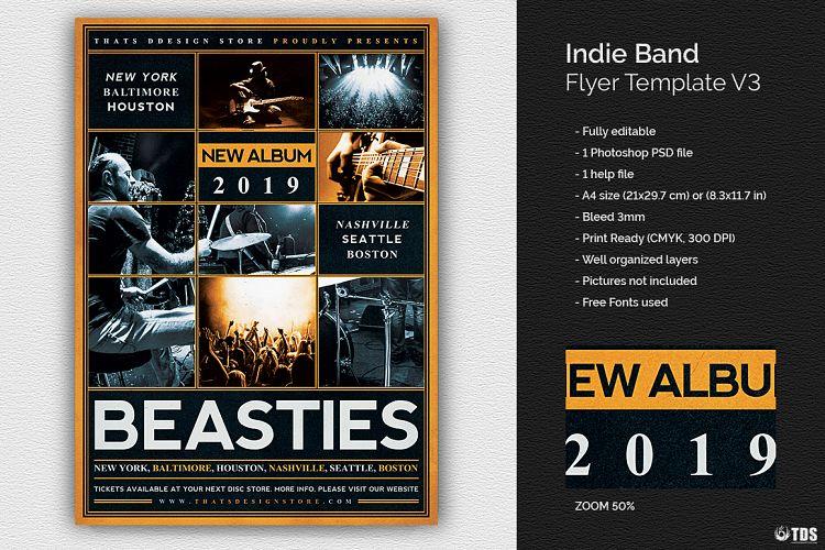 Indie Band Flyer Template V3 by TDStore Design Bundles - band flyer template