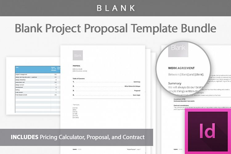 Project Proposal Template Kit by Bootst Design Bundles - product proposal template