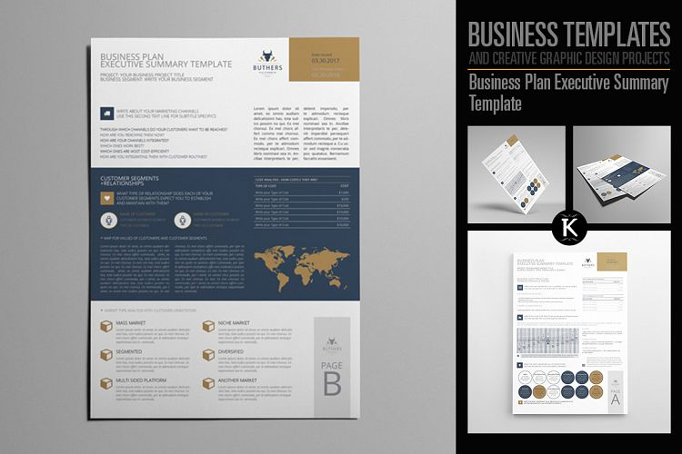 Business Plan Executive Summary Templat Design Bundles - business executive summary template