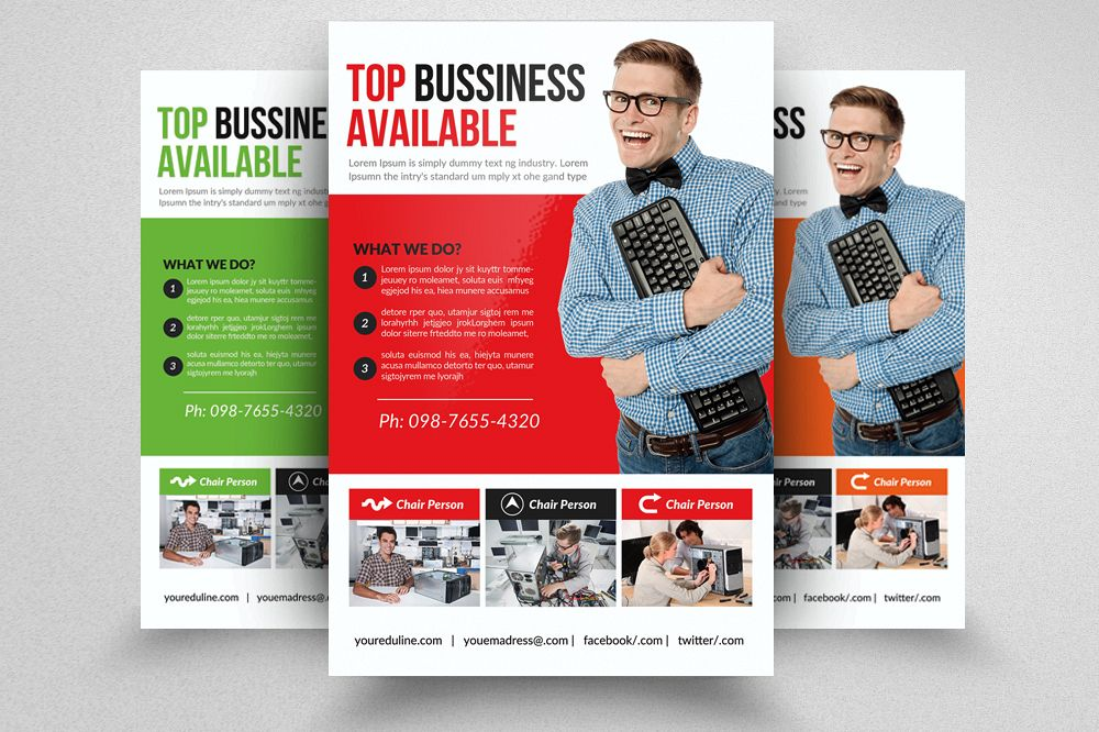 Computer Repair Flyer Template by Desig Design Bundles - computer repair flyer template