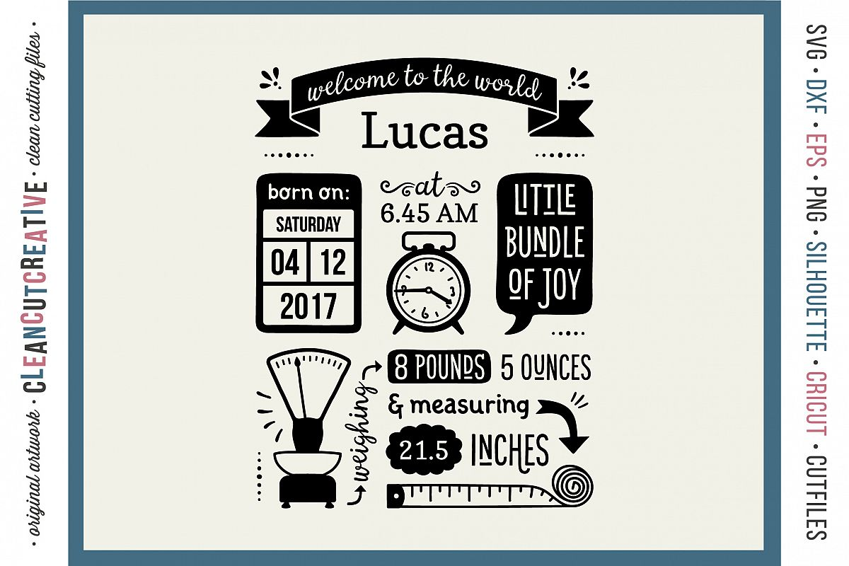 Fullsize Of Birth Announcement Template