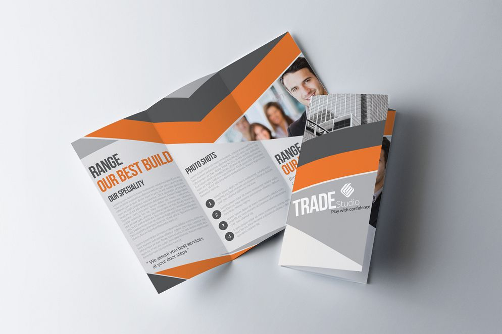 Business Corporate Trifold Brochure by Design Bundles