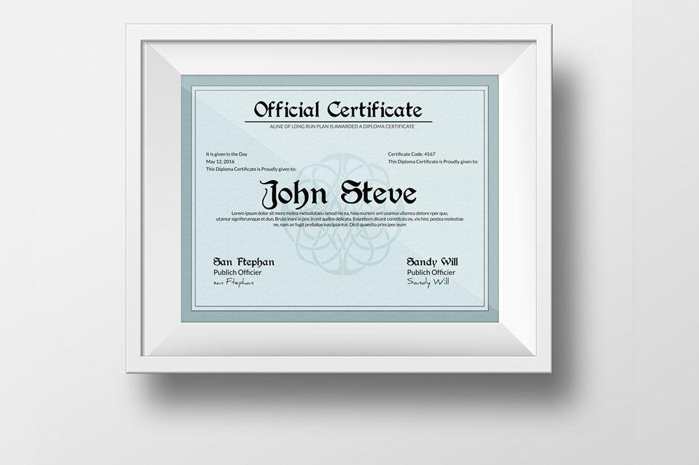 Diploma Certificate Template by Designh Design Bundles