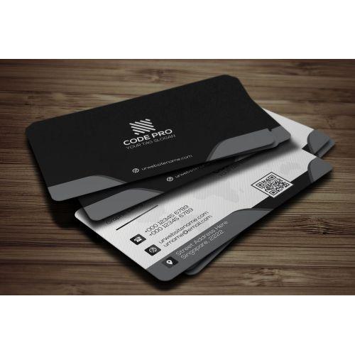 Medium Crop Of Modern Business Card