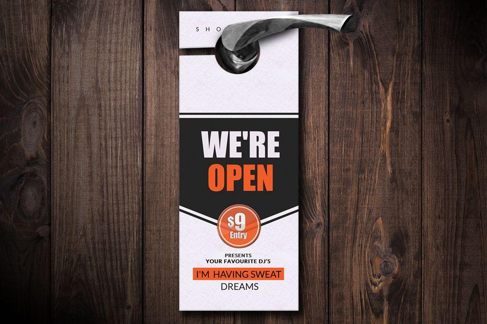 Business Door Hangers by Designhub719 Design Bundles