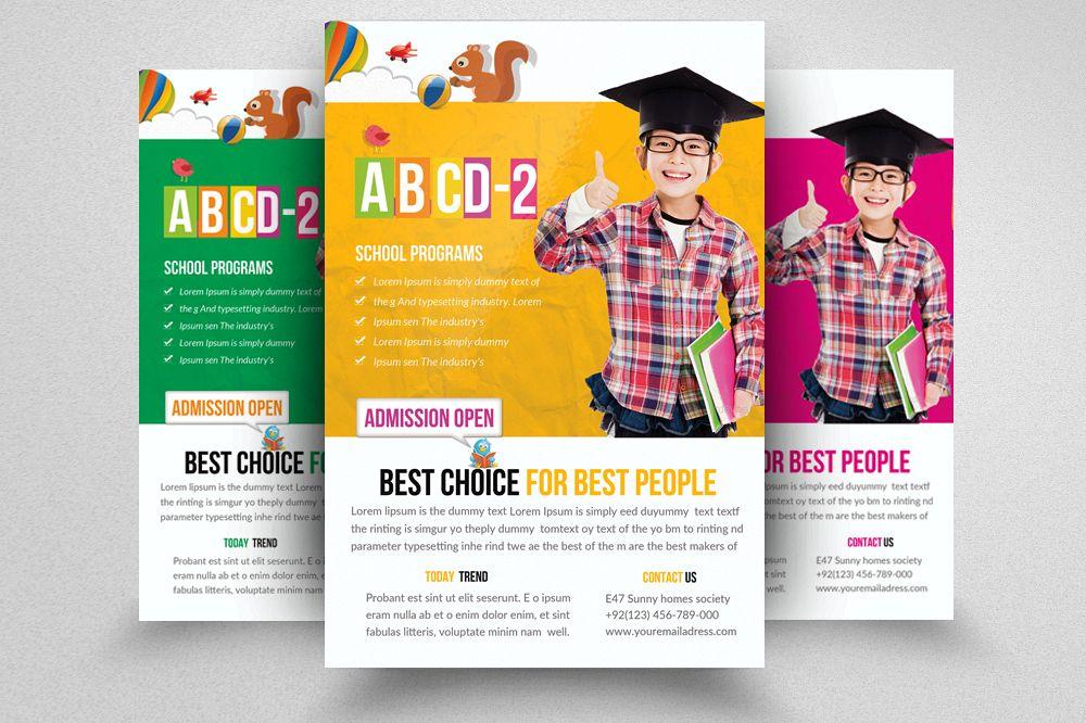 Kids Education Flyer Template by Design Design Bundles