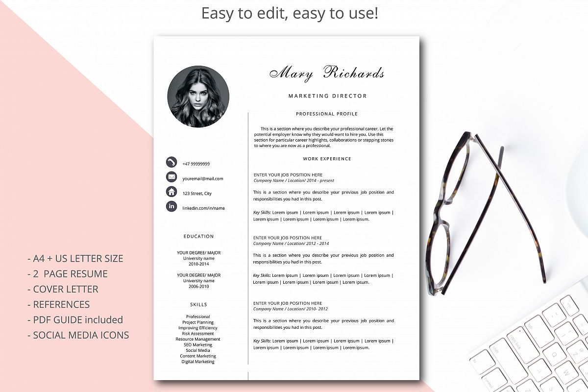 template cv simple et