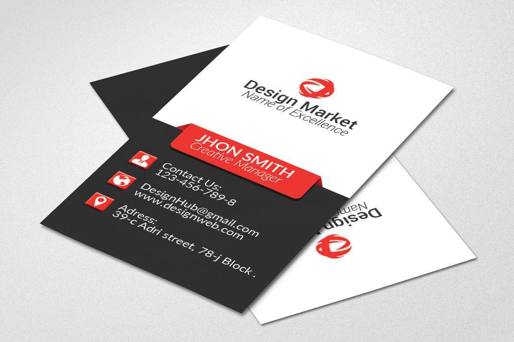 Vertical Business Cards by Designhub719 Design Bundles
