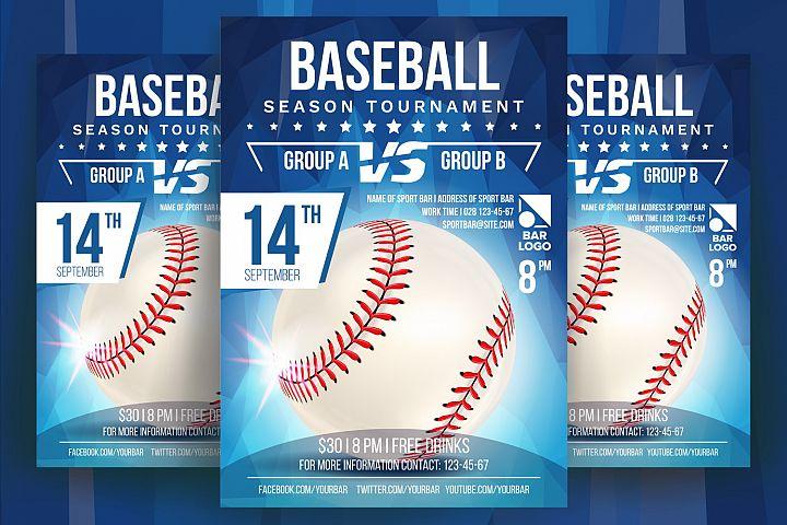 Baseball Poster Vector by pikepicture Design Bundles - Baseball Flyer
