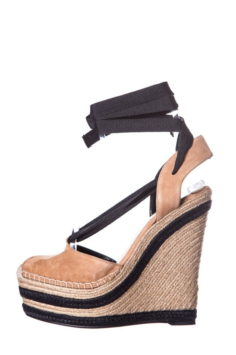 Sz Photo Gucci Tan Suede Espadrille Wedge Sz 37 5 House Account