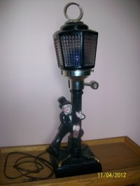 Vintage 1932 Charlie Chaplin Bar Lamp W/ Music Box ...