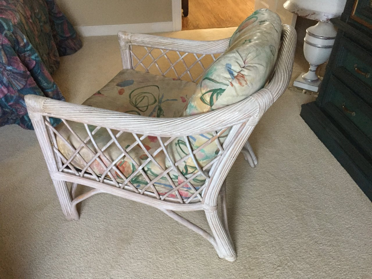 Looking For Chairs Looking For Two White Washed Wicker Chairs By Henry Link