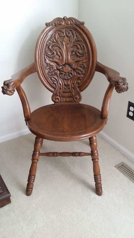 Carved Oak Chair My Antique Furniture Collection