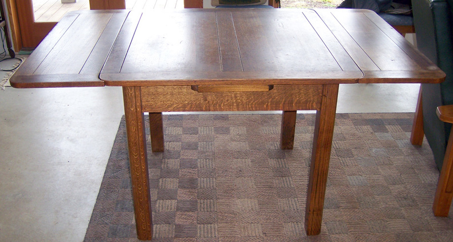 Drop Leaf Table Oak Draw Leaf Pub Table? | My Antique Furniture Collection